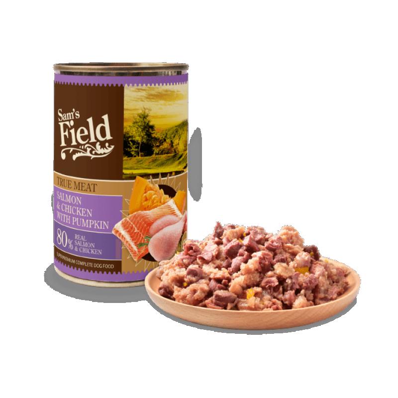 Sam's Field konserv Lõhe,Kana&Kõrvitsaga 400g