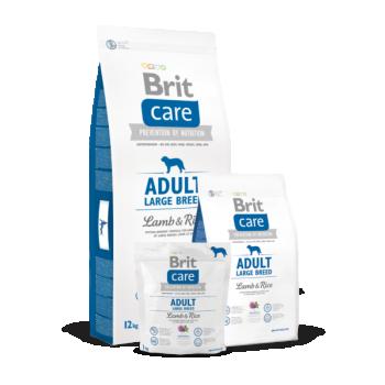 Brit Care suurt tõugu täiskasvanud koerale Lamba&Riisiga 3 kg