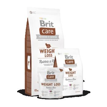BRIT CARE täiskasvanud ülekaalulisele koerale Jänese&riisiga 3kg