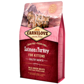 CL kassi kuivtoit kassipojale lõhe&kalkunilihaga 2kg