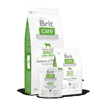 BRIT CARE suurt kasvu täiskasvanud koerale Lõhe&Kartuliga 12kg