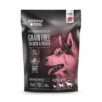 PrimaDog GRAIN FREE täistoit lõhe-kartuli kõikidele täiskasvanud koertele 1,5kg