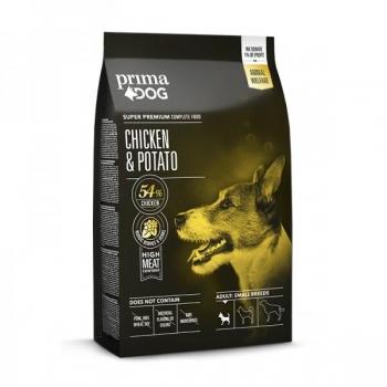 PrimaDog täistoit kana-kartuli väikest tõugu täiskasvanud koertele 4kg