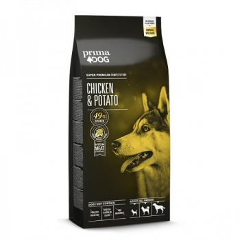PrimaDog koera täistoit Kana&kartuliga 12kg