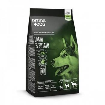 PrimaDog täistoit lammas-kartul kõikidele täiskasvanud koertele 12kg