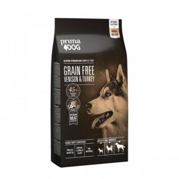 PrimaDog koera teraviljavaba täistoit hirve-&kalkunilihaga 10kg