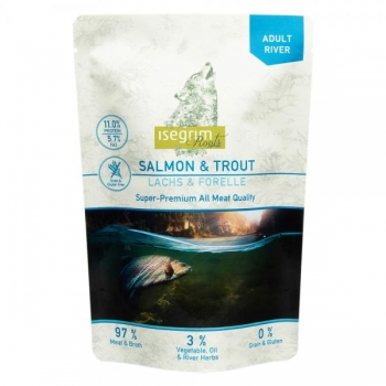 Isegrim Roots II Duoprotein 410g Pouch, Lõhe & forell