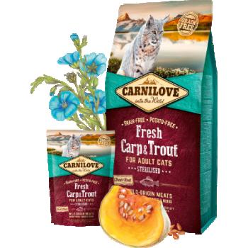 CL Fresh täiskasvanud kassi kuivtoit karpkala&forelliga 0,4kg