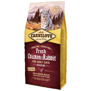 Carni Love FRESH kuivtoit täiskasvanud kassile kana-&küülikulihaga 0,4kg