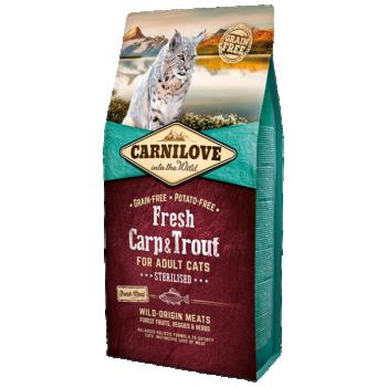 CL Fresh täiskasvanud kassi kuivtoit karpkala&forelliga 6kg