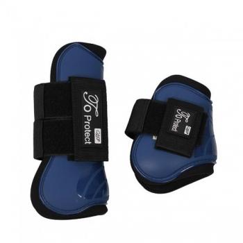 Luxury tendon boots set blue Full