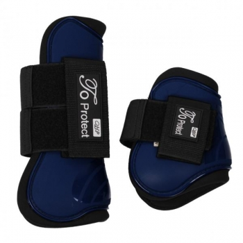 Luxury tendon boots set Evening blue Pony