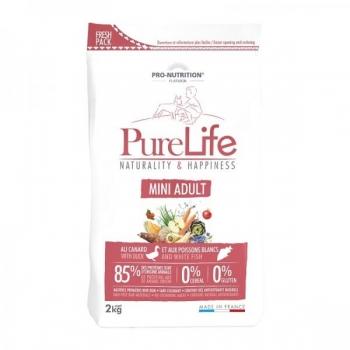 Pure Life kuivtoit Mini täiskasvanud koerale Pardiliha & Valge Kalaga 8 kg