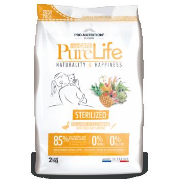 PureLife kassi kuivtoit steriliseeritud kassile pardiliha ja sardiinidega teraviljavaba 2kg