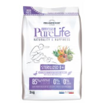 PureLife kassi kuivtoit steriliseeritud eakale kassile pardiliha ja valgekalaga teraviljavaba 2kg