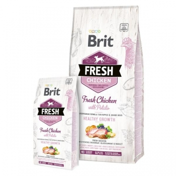 "Brit Fresh ""Puppy"" kanaliha&kartuliga 12kg"