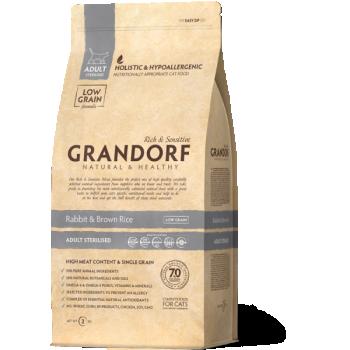 GRANDORF täistoit steriliseeritud kassile küülikuliha & pruuni riisiga 400g