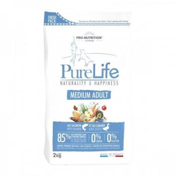Pure Life kuivtoit Medium täiskasvanud koerale Lõhe & Pardilihaga 2kg