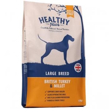 "Healthy Paws ""Briti Kalkuniliha & hirsiga"" SUURELE KOERALE 12kg"