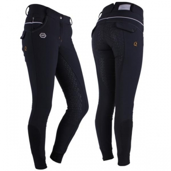 Ratsapüksid Breeches softshell Ivy anti-slip full seat Black 38