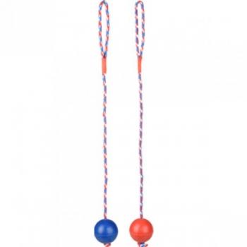 Koera mänguasi kummist pall nööriga 7cm