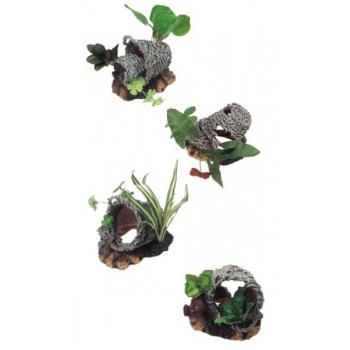 Akvaariumi dekoratsioon korv taimedega L