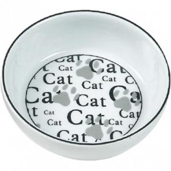 Keraamiline sööginõu kassile CATHY valge 13cm