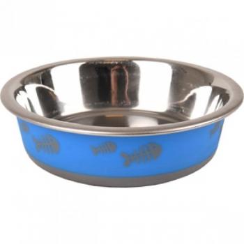 Sööginõu kassile FISH BONE sinine XS 225ml 12,3cm