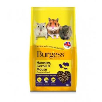 Burgess Exel hamstri, liivahiire ja hiire täissööt 750g