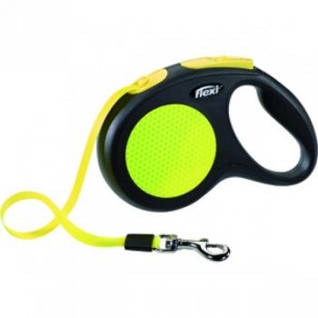 Flexi jalutusrihm New Neon lint black/neon M 5m-25kg