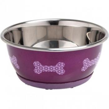 Sööginõu mittelibisev koerale SELECTA roosa 13CM 500ML