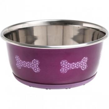 Sööginõu mittelibisev koerale SELECTA roosa 15CM 950ML