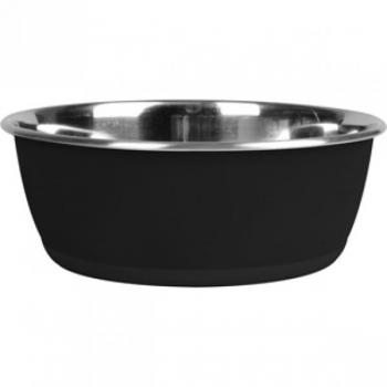 Sööginõu koerale peale kirjutamise võimalusega must 25cm  3700ml