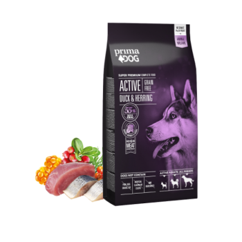 PrimaDog koera täistoit Active Pardiliga&heeringaga 10kg