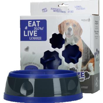 Eat Slow Live Longer Amaze Flower Blue M