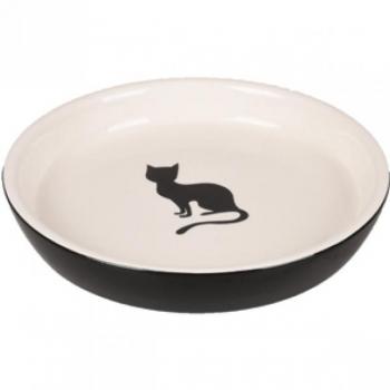 Keraamiline söögitaldrik kassile NALA must-valge 180ml 15CM