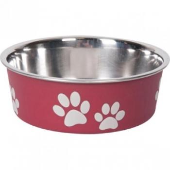 Sööginõu koerale BELLA KENA punane 14cm 450ml