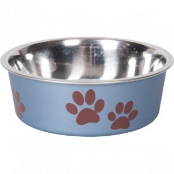 Sööginõu koerale BELLA KENA metallsinine 12cm 300ml