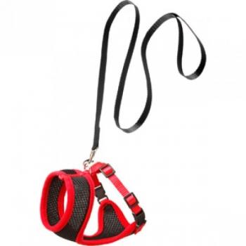 Takside ja jalutusrihma komplekt kassile must/punane 110cm/10mm