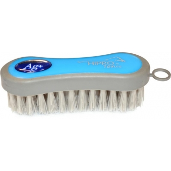 "HIPPOTONIC ""Antimicrobien"" face brush - Color : blue/grey, Size : Back 125 x 35 mm"