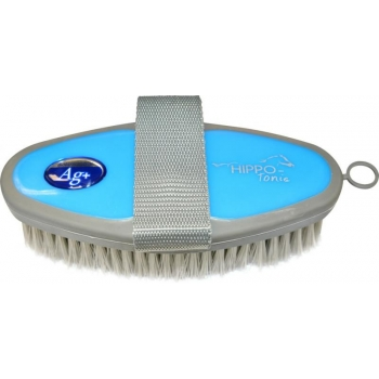 """HIPPOTONIC """"Antimicrobien"""" body brush - Color : blue/grey, Size : Back 165 x 75 mm"""