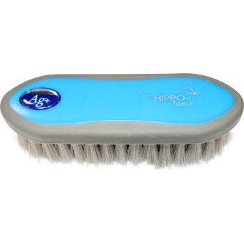 "HIPPOTONIC ""Antimicrobien"" dandy brush - Color : blue/grey, Size : Back 175 x 55 mm"