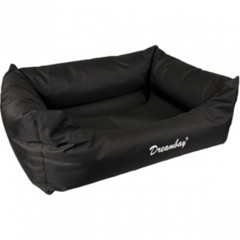 Koera voodi äärega DREAMBAY must 65x45x20cm