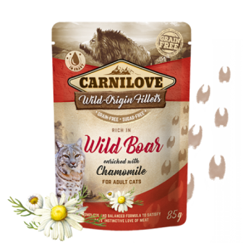 CL CAT POUCH WILD POAR WITH CHAMOMILE 85G