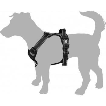 Koera traksid BALOU L must 60-85cm 25mm