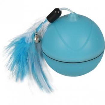 CT LED BALL MAGIC MECHTA 2 IN 1+USB+FEATHERS BLUE 7CM