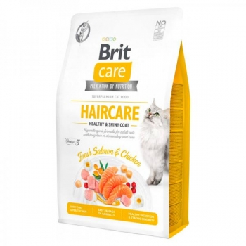 Brit Care Cat Grain Free Haircare Healthy&Shiny Coat 0,4 kg
