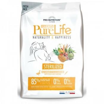PureLife kassi kuivtoit steriliseeritud kassile pardiliha ja sardiinidega teraviljavaba 8kg