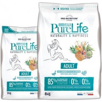 PureLife kassi kuivtoit täiskasvanud kassile pardi- ja kalkunilihaga teraviljavaba 8kg