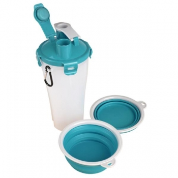 2-IN-1 TRAVELING CUP TRINKA FOR WATER + FOOD BLUE